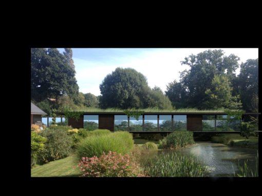 maison toiture végétalisée